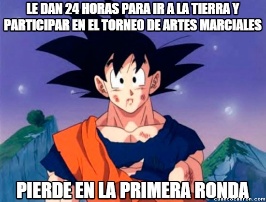 #25 Torneo de Artes Marciales,Bad Luck Goku,Dragon Ball Z,Goku,Vegeta