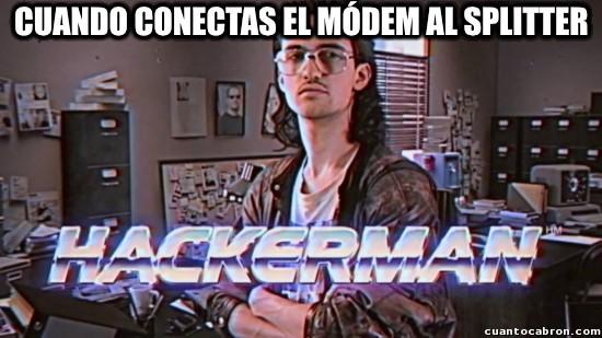 Meme_otros - Cuando conectas el Módem al Splitter
