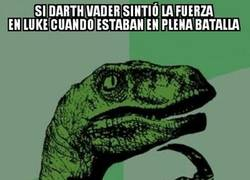 Enlace a Darth Vader, muy listo para algunas cosas pero para otras...