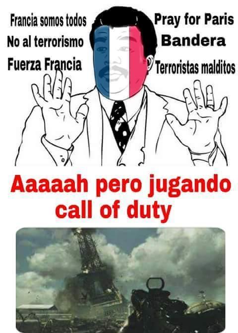 Meme_otros - Mucho #PrayforParis pero luego...