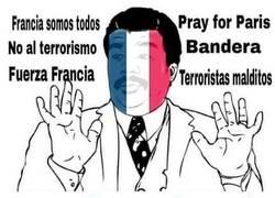 Enlace a Mucho #PrayforParis pero luego...