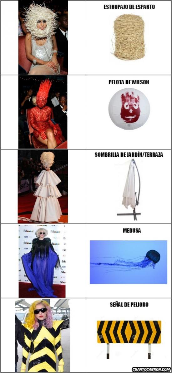 Otros - Y aquí tenemos las inspiraciones modelísticas de Lady Gaga