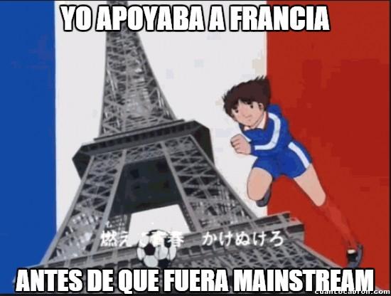 Meme_otros - Oliver y Benji fueron los primeros en apoyar a Francia