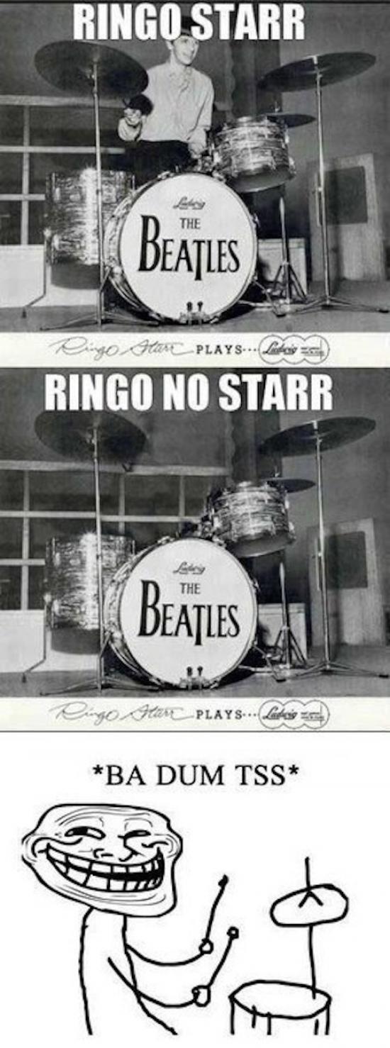 Trollface - ¿Sabes quién es Ringo Starr?