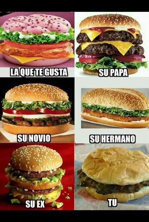 Meme_otros - Mi situación amorosa vista a través de los ojos de una hamburguesa