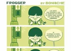 Enlace a Frogger, el juego de la ranita que cruzaba la calle ocultaba una espantosa realidad