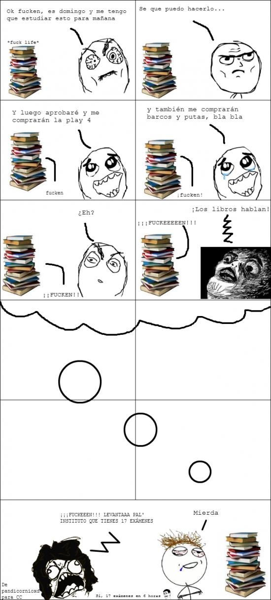 Oh_god_why - Cuando te quedas ''estudiando'' toda la noche para nada