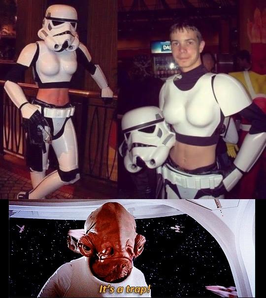 Its_a_trap - Los stormtroopers pueden ser peligrosos como ligues