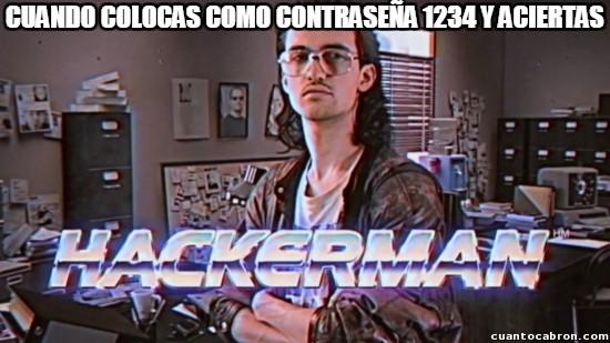 Meme_otros - Una de las contraseñas más usadas en el mundo no se resiste a un buen hacker