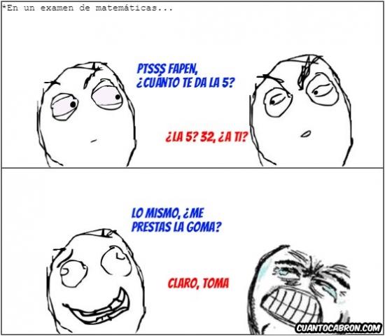 Otros - Cuando los resultados en un examen no son los mismos...