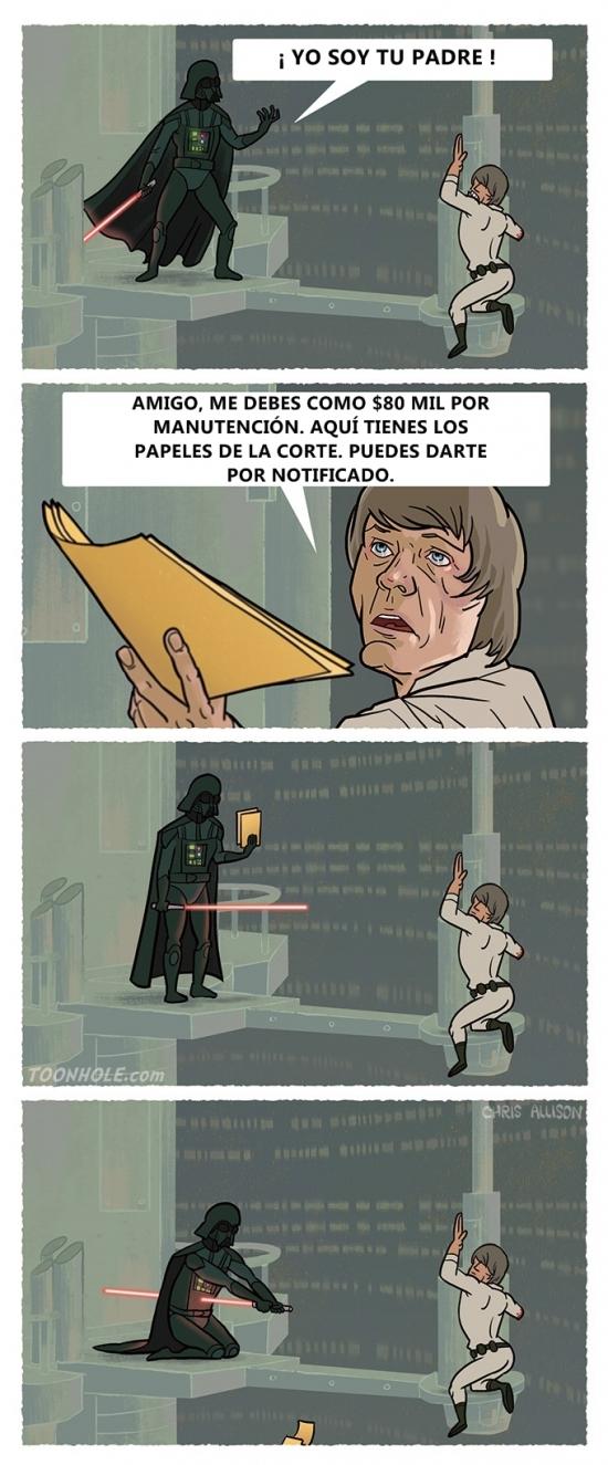 Otros - Así hubiera acabado la historia entre Darth Vader y Luke Skywalker si hubiera ocurrido hoy en día