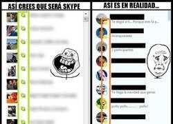 Enlace a Y yo que pensaba que al instalarme Skype iba a ser un no parar de chatear