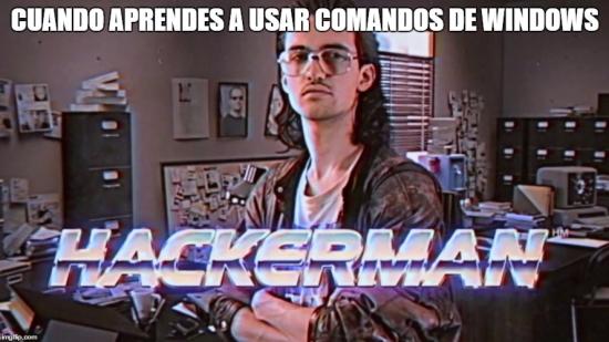Meme_otros - Cuando aprendes a usar comandos