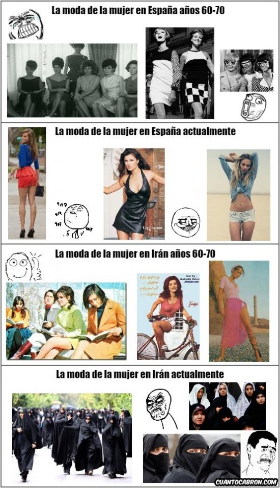 Otros - Mientras aquí la moda de la mujer ha evolucionado, en otros lugares ha pasado lo contrario...