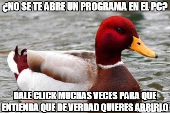 Pato_mal_consejero - Este pato sabe lo que Windows necesita para funcionar bien