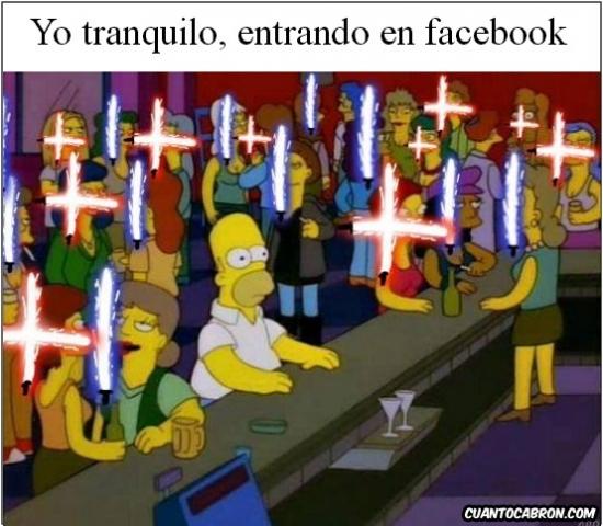 Meme_otros - Mientra tanto en Facebook...