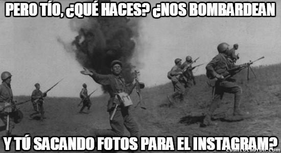 bombardean,bombardear,fotos,guerra,incredulidad,instagram,Rusia,ruso,Segunda Guerra Mundial,soldado