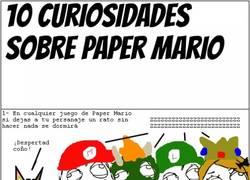 Enlace a 10 curiosidades de nuestro Mario de papel