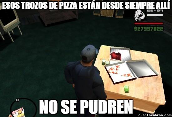 Meme_otros - GTA San Andreas y su comida que no se pudre