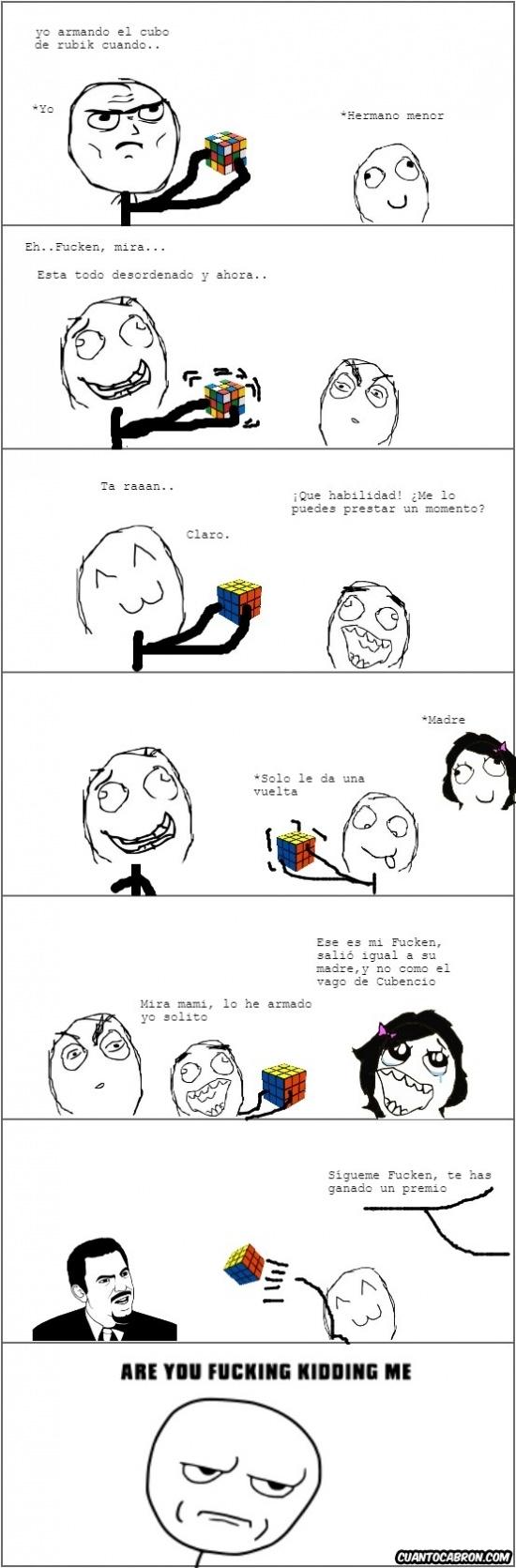 Kidding_me - El mérito atribuido por un cubo de Rubik