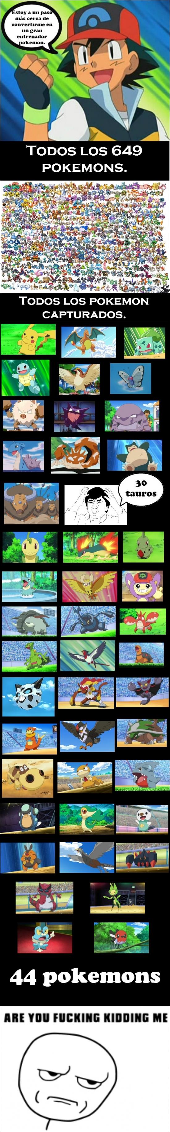 Kidding_me - El trayecto de Ash como entrenador Pokémon deja un poco que desear