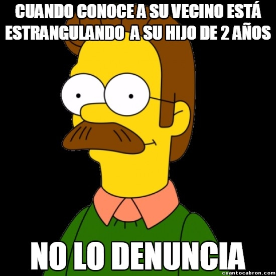 Meme_otros - Ned Flanders se pasa de bueno