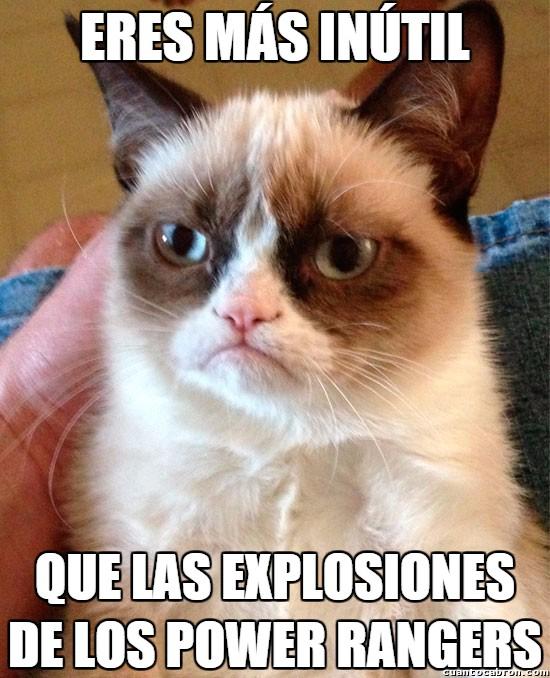 Grumpy_cat - Las explosiones más inofensivas de la historia de la tele, ¡a metamorfosearse!
