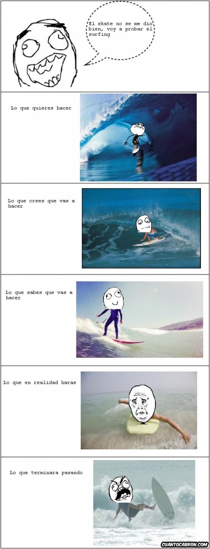 Ffffuuuuuuuuuu - El surfing tampoco es fácil