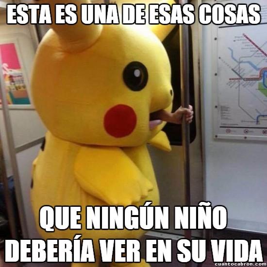 Meme_otros - Mamá, ¿qué ha comido ese Pikachu?