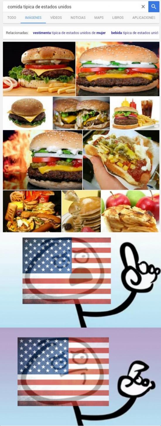Otros - En esencia uno podría sacar la conclusión de que Estados Unidos no tiene comida tradicional