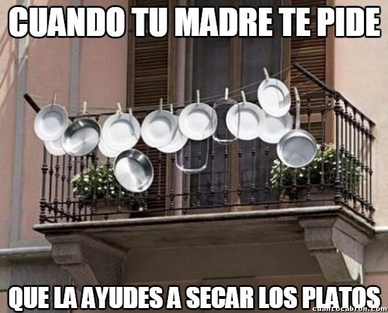 Meme_otros - Soy el rey secando los platos