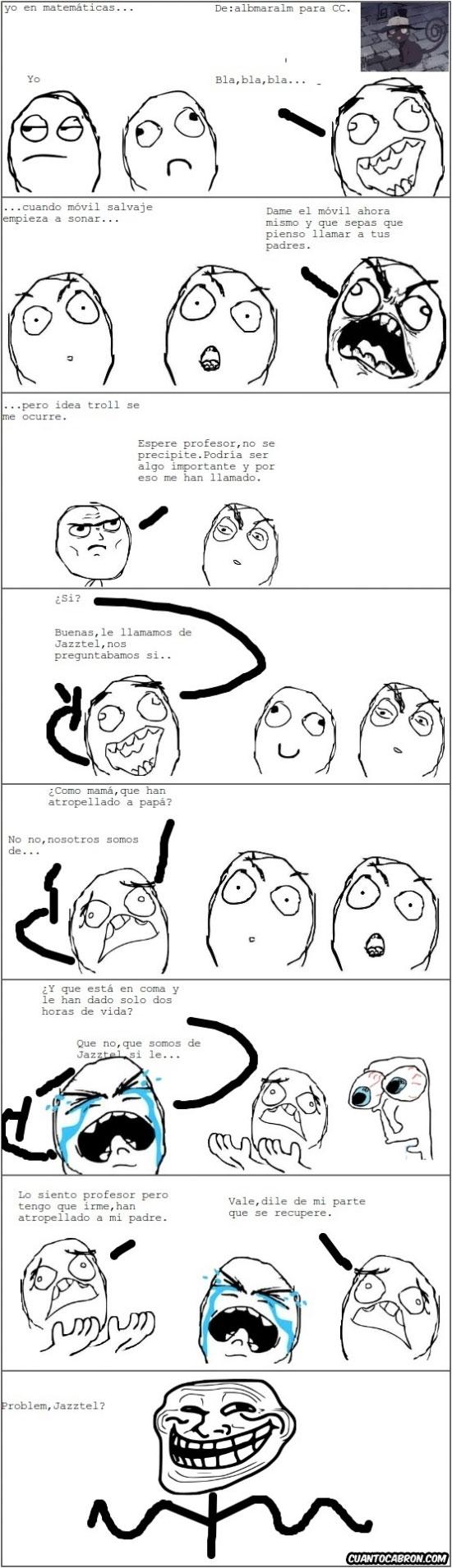 Trollface - A veces viene bien que te llamen en clase