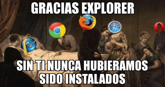 Meme_otros - El día que Internet Explorer nos deje...