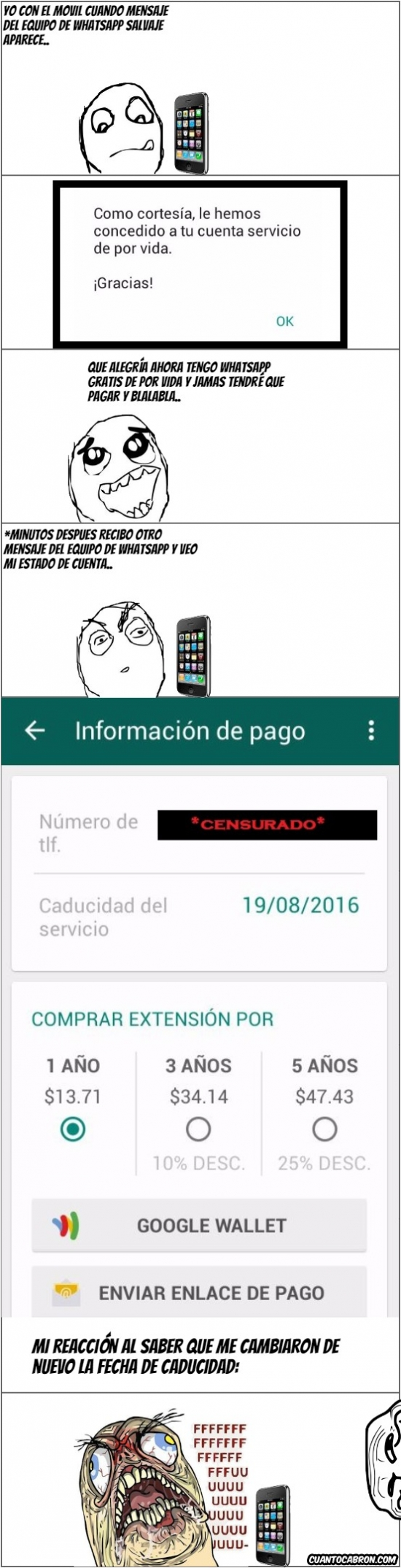 Ffffuuuuuuuuuu - El equipo de Whatsapp trolleando a la gente
