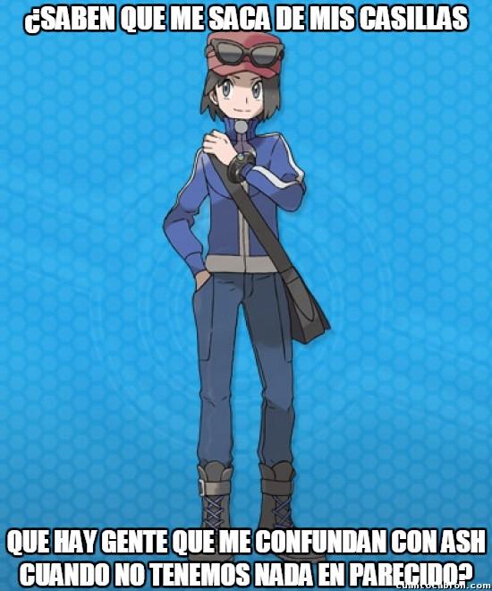 Meme_otros - La triste realidad de las personas que confuden a Kalm con Ash