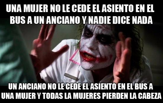 Joker - Luego piden igualdad...