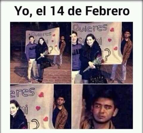 Meme_otros - La realidad que varios tendrán en San Valentin