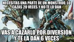 Enlace a Monster Hunter es todo un troll