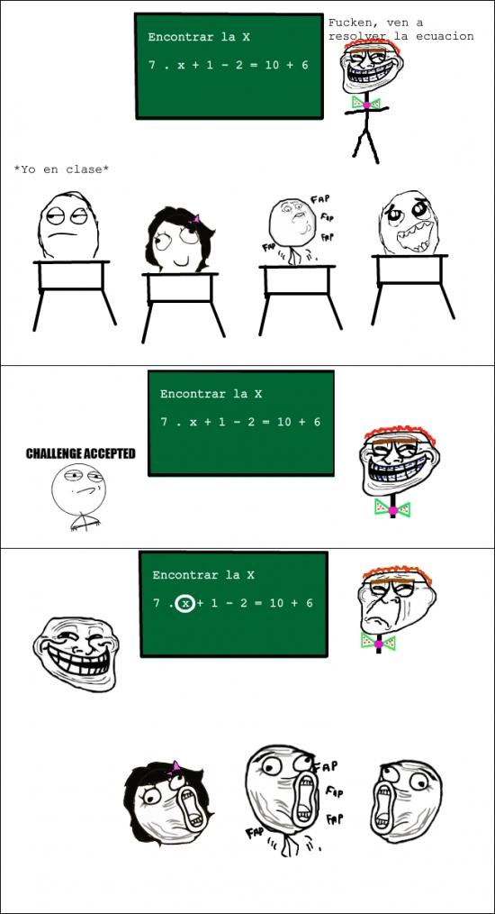Trollface - Cuando no sabes hacer una ecuación pero si sabes trollear