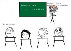 Enlace a Cuando no sabes hacer una ecuación pero si sabes trollear