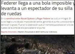 Enlace a Ojo al milagro que ha hecho Federer