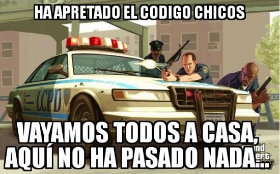 Meme_otros - La lógica de la policía del GTA