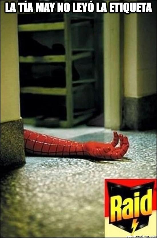 Meme_otros - Pobre Spiderman :(