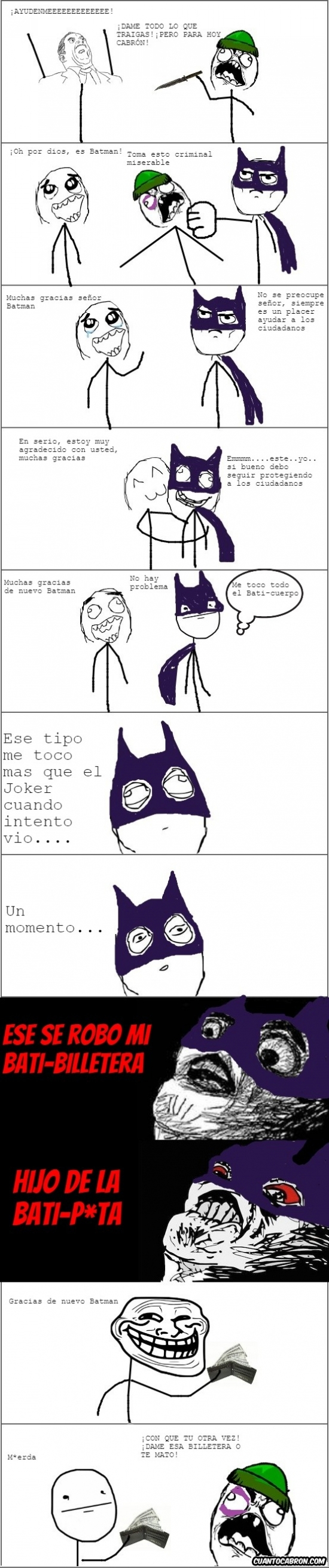 Trollface - Nunca robes a Batman y menos usando un este anzuelo...
