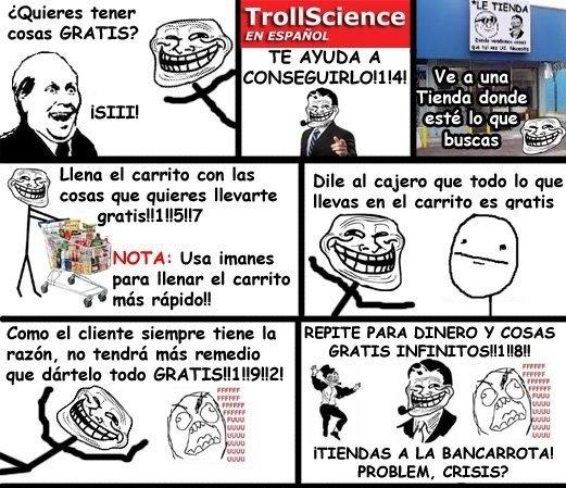 Trollface - Trollscience: cómo tener cosas gratis