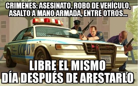 Meme_otros - La justicia del GTA