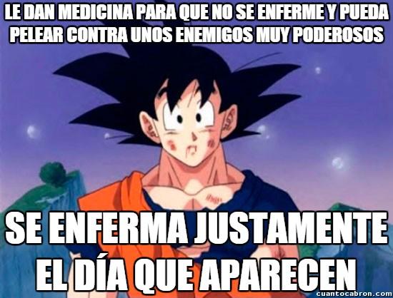Son_goku - Goku siempre dejando todo a último momento