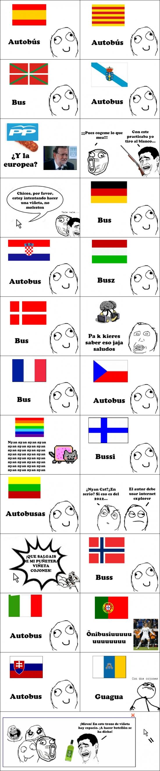 Fuck_yea - Así se dice autobús en diferentes idiomas