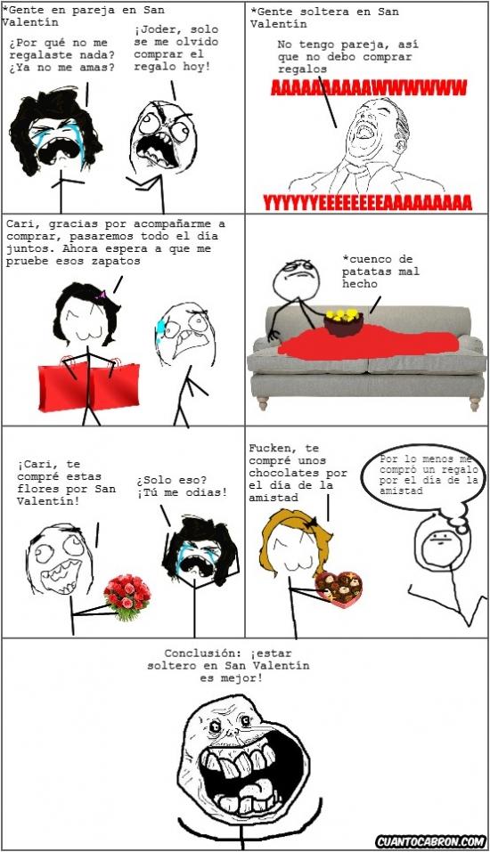 Forever_alone - Ventajas de ser soltero en San Valentín
