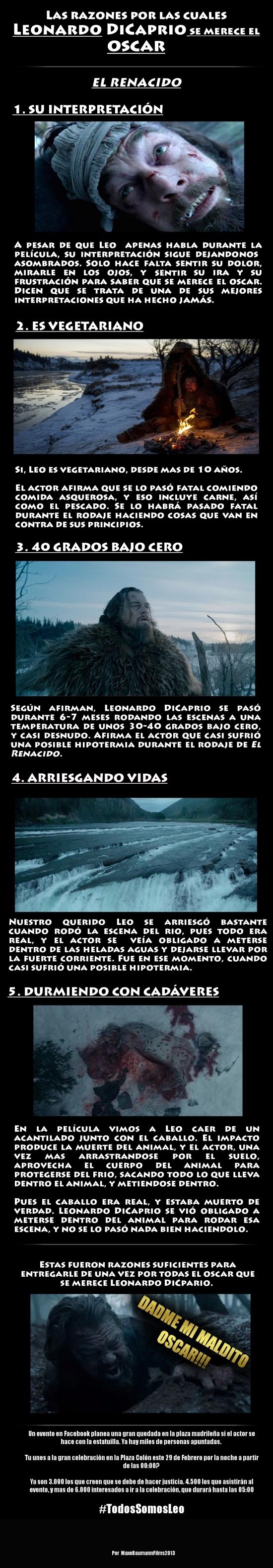 Aww_yea - [Contiene spoilers] Las 5 razones por las que Leonardo DiCaprio se merece el Oscar por El Renacido